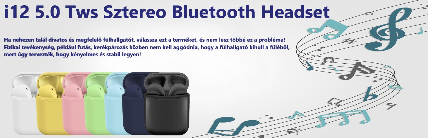 i12​ 5.0 Tws Sztereo Bluetooth headset