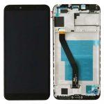 Huawei Y6 (2018) / Y6 Prime (2018) fekete LCD kijelző érintővel és kerettel