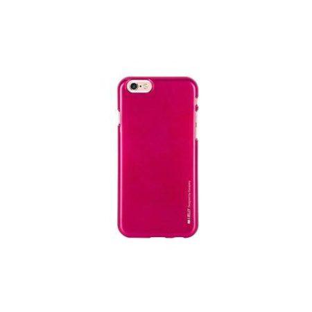 Mercury iJelly Apple iPhone 7 Plus / 8 Plus fémhatású matt szilikon hátlapvédő sötétpink