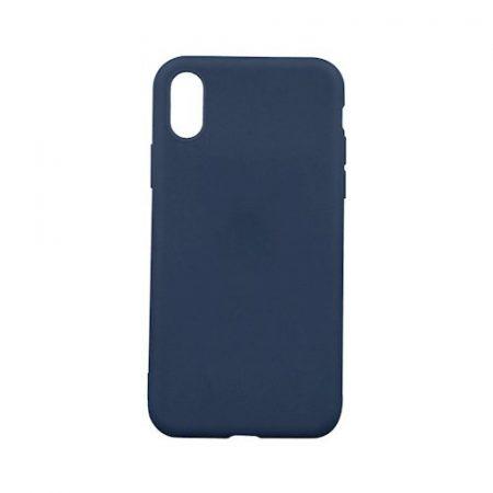Apple iPhone 5G/5S/5SE sötétkék matt vékony szilikon tok