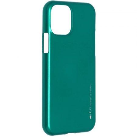 Mercury iJelly Apple iPhone 7 Plus / 8 Plus fémhatású matt szilikon hátlapvédő zöld