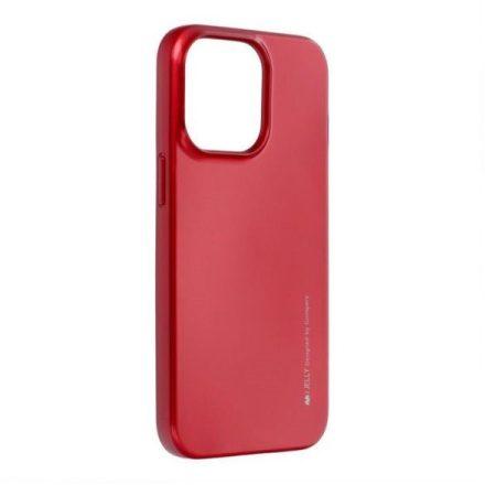 Mercury iJelly Sony Xperia XA fémhatású matt szilikon hátlapvédő piros