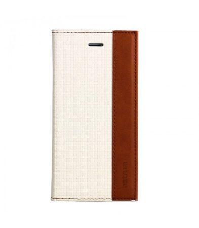Astrum MC710 DIARY mágneszáras Apple iPhone 5G/5S/5SE könyvtok fehér-barna