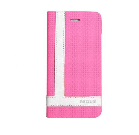 Astrum MC790 TEE PRO mágneszáras Samsung G930 Galaxy S7 könyvtok pink-fehér