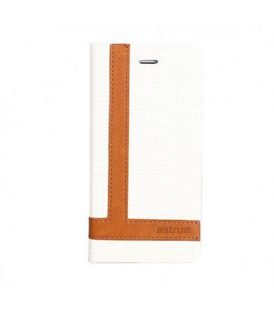 Astrum MC790 TEE PRO mágneszáras Samsung G930 Galaxy S7 könyvtok fehér-barna