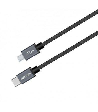 Astrum UT590 1M type-C - micro USB strapabíró adatkábel A53059-B
