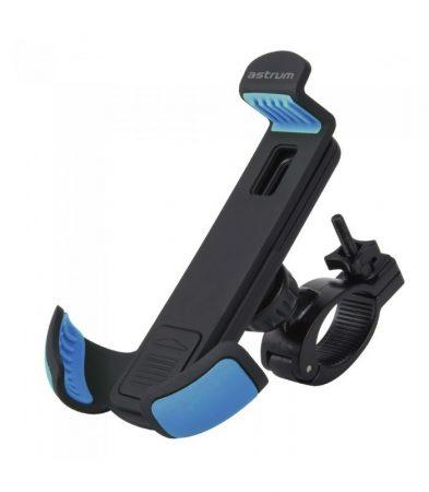 """Astrum SH460 gumibevonatos univerzális biciklis okostelefon tartó 3,5"""" - 6,3"""" 360 fokban forgatható fekete/kék"""