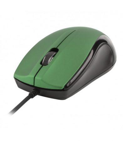 Astrum MU110 fekete-zöld USB optikai egér