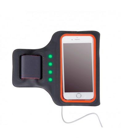 """Astrum AB470 narancs vízálló sport telefontartó felkarra, önműködő LED világítással, 4,7""""-ig"""