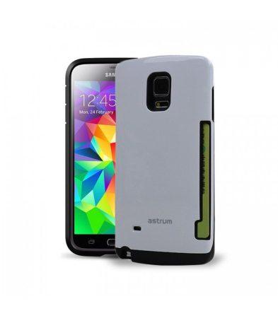 Astrum MC070 kártyatartós Samsung S5 hátlapvédő fehér