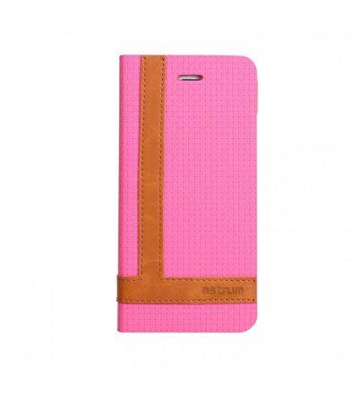 Astrum MC590 TEE PRO mágneszáras Samsung G920F Galaxy S6 könyvtok pink-barna