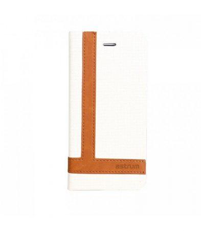 Astrum MC590 TEE PRO mágneszáras Samsung G920F Galaxy S6 könyvtok fehér-barna