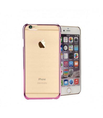 Astrum MC110 keretes átlátszó Apple iPhone 6/6S tok pink