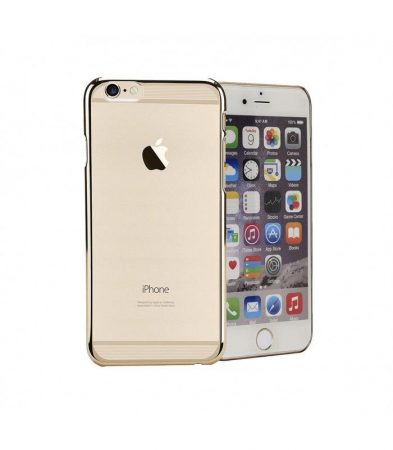 Astrum MC120 keretes átlátszó, alul felül dekorcsíkos Apple iPhone 6/6S tok arany
