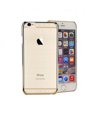 Astrum MC130 keretes átlátszó, alul felül Swarovski köves Apple iPhone 6/6S tok arany