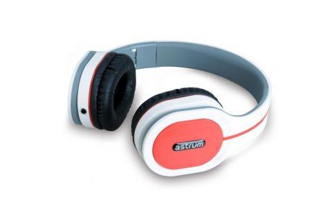 Astrum Fashion UV bőr fejhallgató fehér színben HS730 A12073-Q