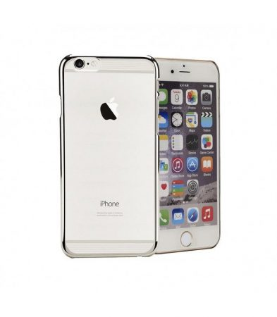 Astrum MC220 keretes átlátszó, alul felül dekorcsíkos Apple iPhone 6 Plus / 6S Plus tok ezüst