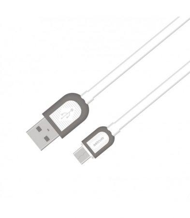 Astrum UD360 1M Micro USB bliszteres slim adatkábel fehér