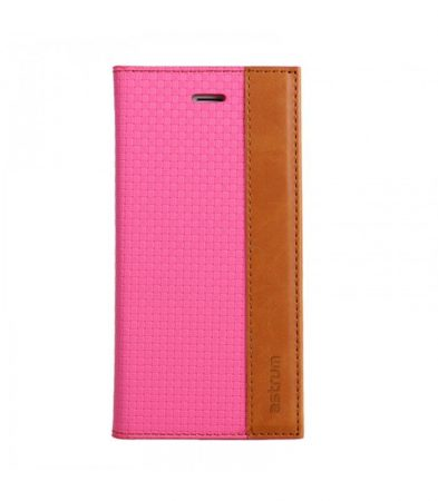Astrum MC540 DIARY mágneszáras Samsung G925F Galaxy S6 EDGE könyvtok pink-barna