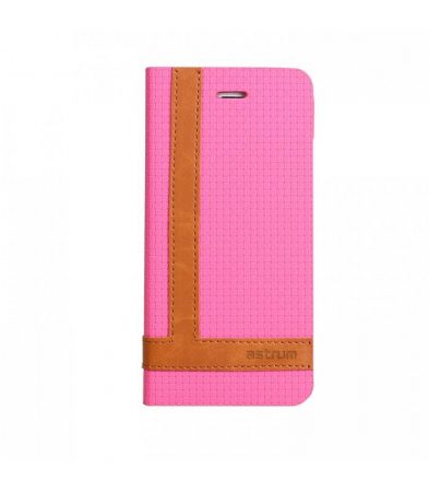 Astrum MC600 TEE PRO mágneszáras Samsung G925F Galaxy S6 EDGE könyvtok pink-barna