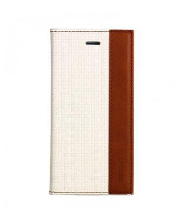 Astrum MC530 DIARY mágneszáras Samsung G920F Galaxy S6 könyvtok fehér-barna