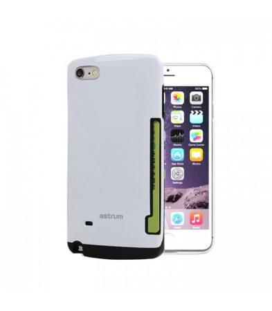Astrum MC060 kártyatartós Apple iPhone 6 Plus / 6S Plus hátlapvédő fehér