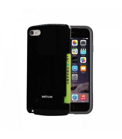 Astrum MC060 kártyatartós Apple iPhone 6 Plus / 6S Plus hátlapvédő fekete