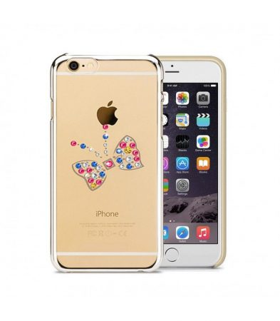 Astrum MC250 keretes pillangó mintás, színes Swarovski köves Apple iPhone 6/6S hátlapvédő ezüst