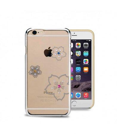 Astrum MC270 keretes virág mintás, színes Swarovski köves Apple iPhone 6/6S hátlapvédő ezüst