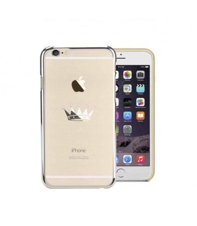 Astrum MC300 keretes korona mintás, Swarovski köves Apple iPhone 6/6S hátlapvédő ezüst