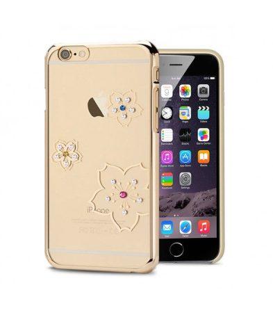 Astrum MC280 keretes virág mintás, színes Swarovski köves Apple iPhone 6 Plus / 6S Plus hátlapvédő arany