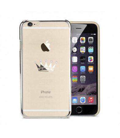 Astrum MC310 keretes korona mintás, Swarovski köves Apple iPhone 6 Plus / 6S Plus hátlapvédő ezüst