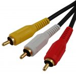 Astrum 3xRCA apa - 3xRCA apa 3.0 méter Videó kábel kék CB-3RCA03-BL