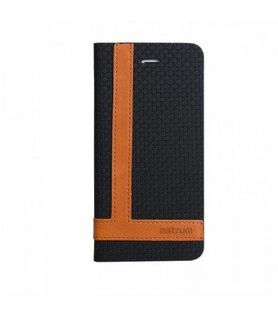 Astrum MC600 TEE PRO mágneszáras Samsung G925F Galaxy S6 EDGE könyvtok fekete-barna