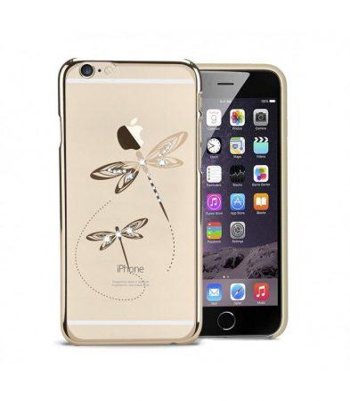 Astrum MC350 keretes szitakötő mintás, Swarovski köves Apple iPhone 6 Plus / 6S Plus hátlapvédő arany