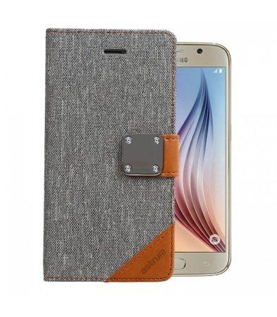 Astrum MC630 MATTE BOOK mágneszáras Samsung G920F Galaxy S6 könyvtok szürke