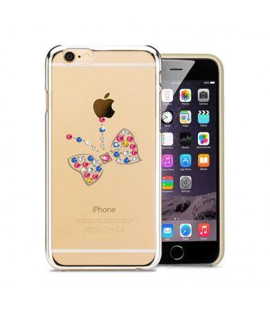 Astrum MC260 keretes pillangó mintás, színes Swarovski köves Apple iPhone 6 Plus / 6S Plus hátlapvédő ezüst
