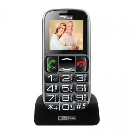 Maxcom MM462BB mobiltelefon, kártyafüggetlen, extra nagy gombokkal, vészhívóval