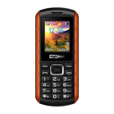 Maxcom MM901 mobiltelefon, dual sim-es kártyafüggetlen, ütés-, por-, víz (IP67)- és sár ellen narancs