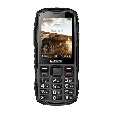 Maxcom MM920 mobiltelefon, kártyafüggetlen-, ütés-, por-, víz (IP67)- és sár ellen fekete