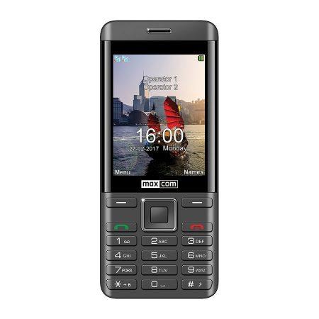 Maxcom MM236 mobiltelefon, dual sim-es kártyafüggetlen, bluetooth-os, fm rádiós fekete-szürke