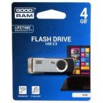 Goodram 4GB USB 2.0 fekete pendrive Artisjus matricával - UTS2-0040K0R11