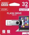 Goodram 32GB USB 3.0 fekete pendrive Artisjus matricával - UTS3-0320K0R11