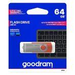 Goodram 64GB USB 3.0 piros pendrive Artisjus matricával - UTS3-0640R0R11