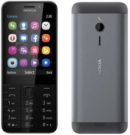 Nokia 230 (2017) Mobiltelefon, Kártyafüggetlen, Dual Sim, Szürke
