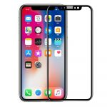 Meleovo Defense Glass Flexible prémium fekete keretes full glue 2,5D hajlékony hibrid előlapi üvegfólia Apple iPhone XS Max (6.5)