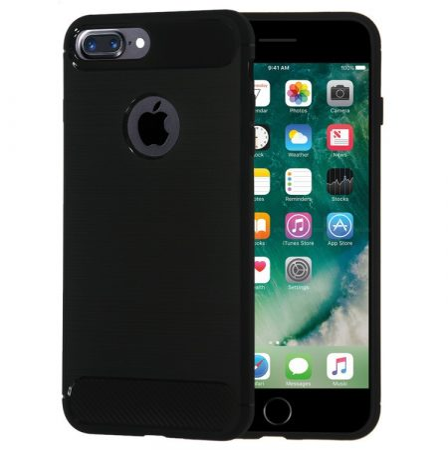 Apple iPhone X / XS Carbon vékony szilikon tok fekete