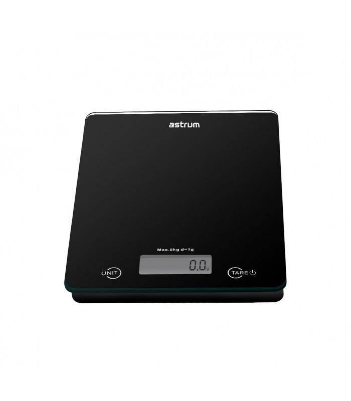 Astrum WS050 fekete konyhai mérleg 5kg-ig