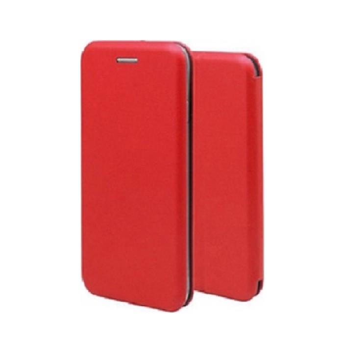 Forcell Elegance Huawei P30 Lite oldalra nyíló mágneses könyv tok szilikon belsővel piros