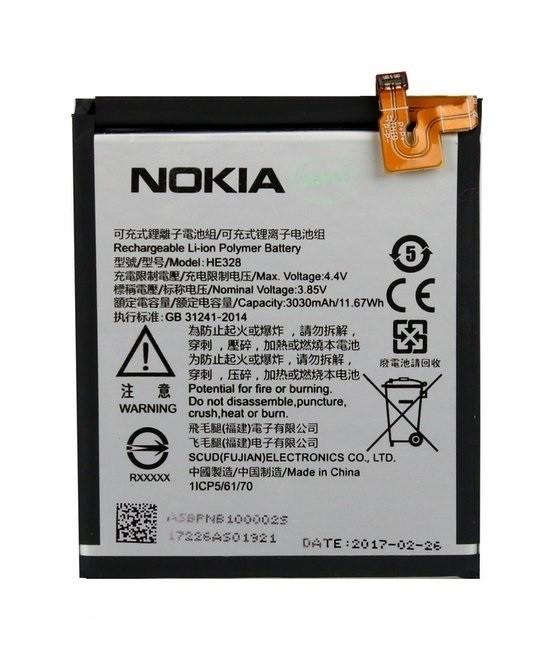 Nokia HE328 gyári akkumulátor Li-Ion 3030mAh (Nokia 8)